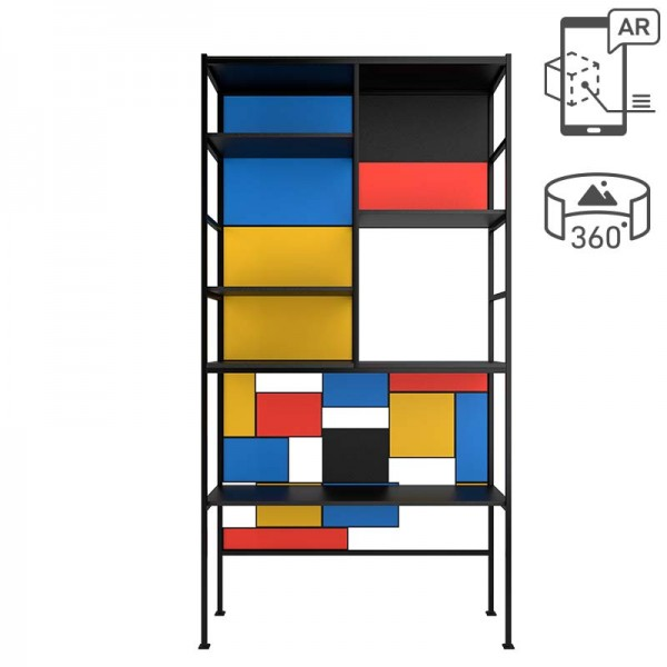 Mondrian Regal Raumteiler