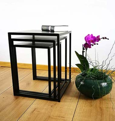 Beistelltisch Metall Couchtisch Coffeetable Industriedesign Loft