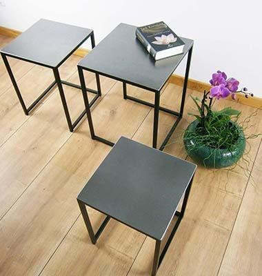 3 Coffeetable Industriedesign Couchtisch Loft
