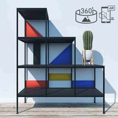 Mondrian Treppenregal