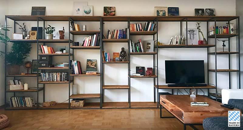 Regal aus Holz und Metall - Kundendesign